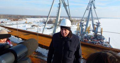 Александр Соловьев на мосту