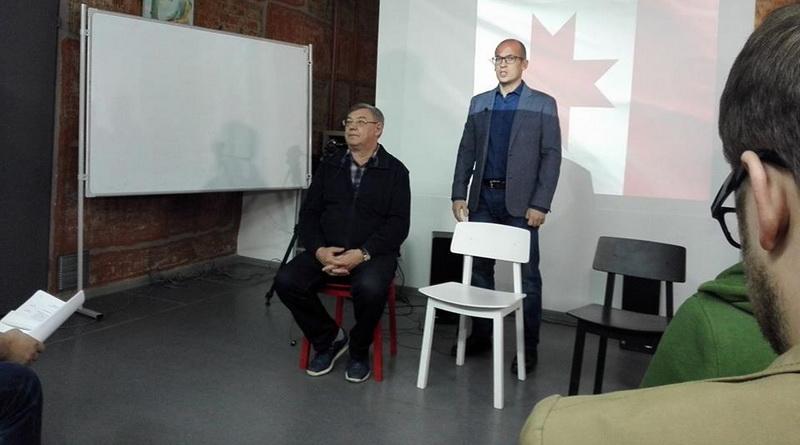 "Юрий Тюрин и Александр Бречалов в ""Лифте"""