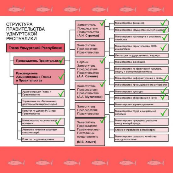 Структура Правительства УР 16,11,07