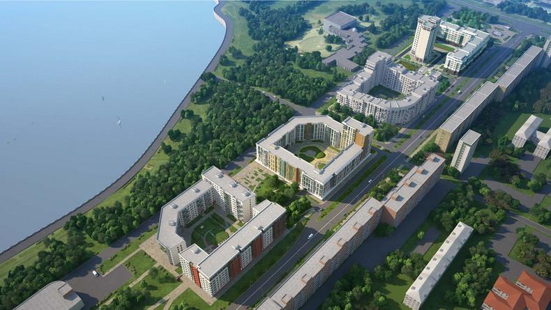 Проект ЖК Ривьера Парк в Ижевске на набережной