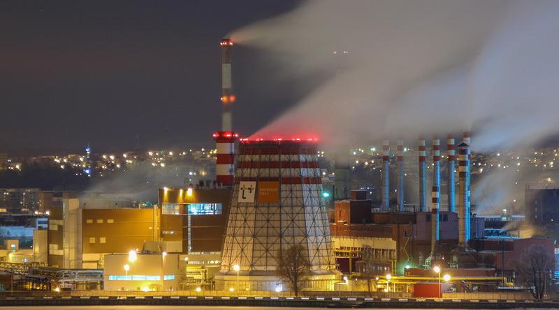 ТЭЦ-1 Ижевск зимой