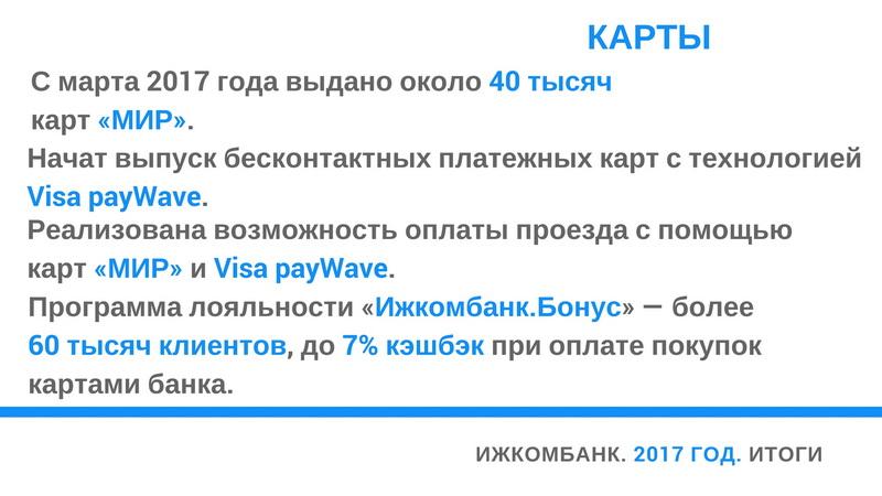 Ижкомбанк итоги 2017 года 2